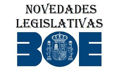 Novedades legislativas BOE