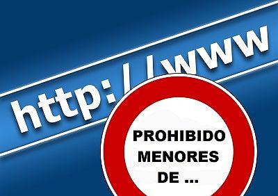 internet prohibido a menores de...