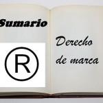 sumario derecho marca