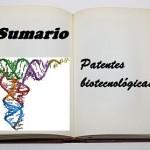 sumario patentes biotecnológicas
